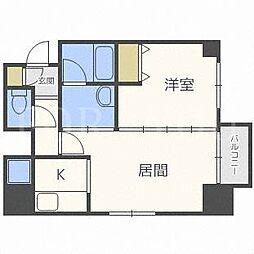 北海道札幌市東区北十四条東10丁目の賃貸マンションの間取り