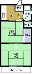 中野ビル(弁天)[3階]の間取り
