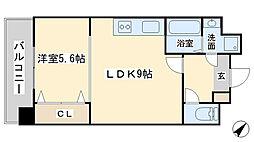 竪町センタービル[6階]の間取り