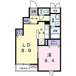 クレメント千葉寺[3階]の間取り