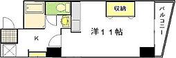 リバーウォーク広瀬[4階]の間取り
