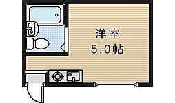 北畠マンションU.T.S[401号室]の間取り