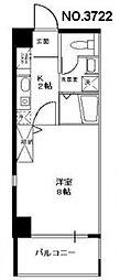 ビガーポリス118東田辺[8階]の間取り