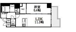 プレサンスNEO心斎橋[11階]の間取り