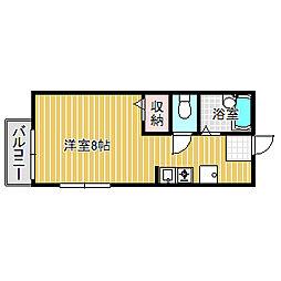 愛知県名古屋市中村区横前町の賃貸アパートの間取り
