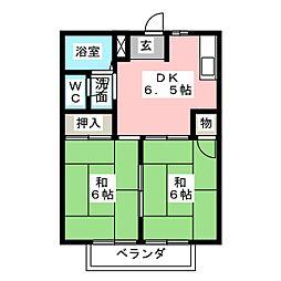 シーサイドハイツ[2階]の間取り