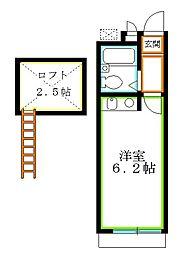 東京都西東京市南町2丁目の賃貸アパートの間取り