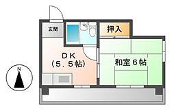 シャトー青山[4階]の間取り