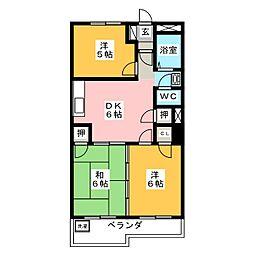 コーポ藤村[4階]の間取り