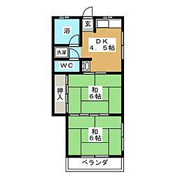 ニューハイツきりんA棟[2階]の間取り