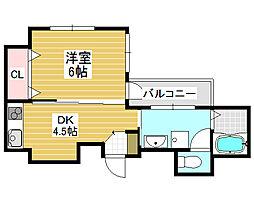 プログレス櫛屋町[3階]の間取り