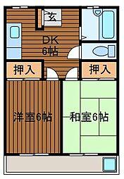 中川ビル[2階]の間取り