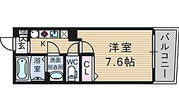 KW RESIDENCE AWAZA[7階]の間取り