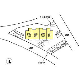 仮)D-room下香貫[1階]の外観