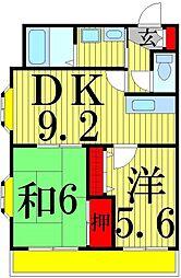 第二ルミネ東綾瀬[401号室]の間取り