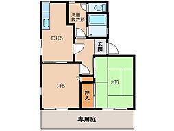 グリーンフル梅田[1階]の間取り