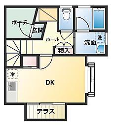 [タウンハウス] 東京都八王子市北野町 の賃貸【東京都 / 八王子市】の間取り