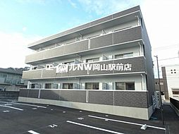 岡山県岡山市北区伊福町4の賃貸アパートの外観
