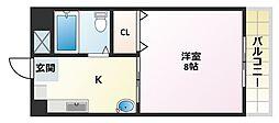 大阪府大阪市平野区喜連2丁目の賃貸マンションの間取り
