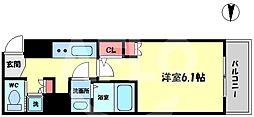 ACTY天満橋(アクティ天満橋) 6階1Kの間取り
