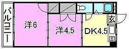 ロイヤル三津[306 号室号室]の間取り
