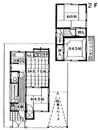 [一戸建] 神奈川県相模原市中央区弥栄2丁目 の賃貸【/】の間取り