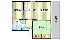 シャーメゾン高岡西[C102号室]の間取り