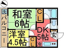 Suncorpo TANAKA〜サンコーポタナカ〜[202号室]の間取り