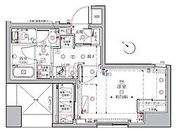 東京メトロ有楽町線 月島駅 徒歩2分の賃貸マンション 7階1Kの間取り