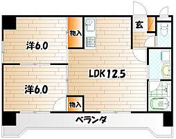 GRADO小倉南[5階]の間取り