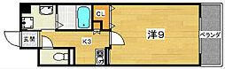 香里プラザ7[3階]の間取り