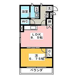 グリーンピース2000[1階]の間取り