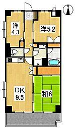 フジプラザマンション[4階]の間取り