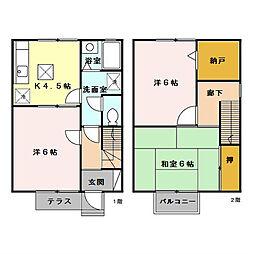[テラスハウス] 東京都八王子市めじろ台3丁目 の賃貸【/】の間取り