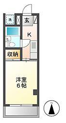 KEYハイツ[2階]の間取り