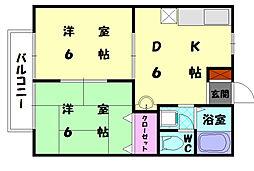 アメニティロード21[1階]の間取り