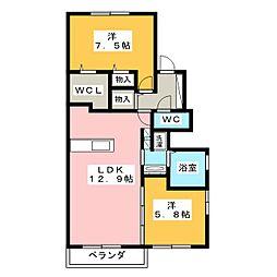 仮)D-room 下香貫[2階]の間取り