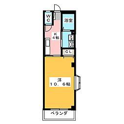 ビバリー西伊場[3階]の間取り