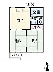 ファミール三武[1階]の間取り