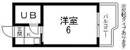 ロータリーマンション永和[705号室号室]の間取り