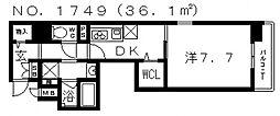 フェアリー阿倍野[4階]の間取り