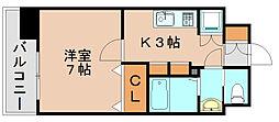 サヴォイ箱崎邸園[8階]の間取り