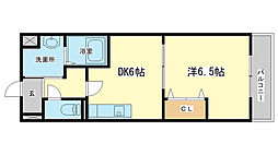 兵庫県姫路市東今宿6丁目の賃貸マンションの間取り