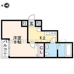 リエール円町[402号室]の間取り