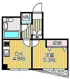 リフレスコア旗の台[2階]の間取り