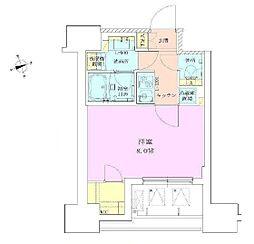 東京メトロ日比谷線 築地駅 徒歩5分の賃貸マンション 4階1Kの間取り
