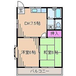 神奈川県川崎市高津区野川の賃貸アパートの間取り