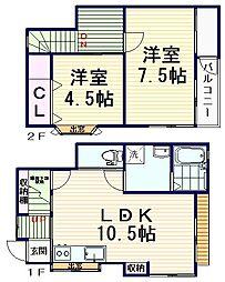[一戸建] 東京都杉並区和田1丁目 の賃貸【/】の間取り