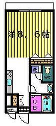ベルグラン吉田[C−1−D号室]の間取り