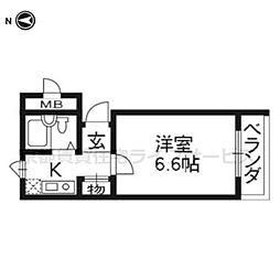 ビラ・アペックス京都七条壬生川[2-B号室]の間取り